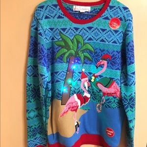 New Ugly tacky Christmas sweater men's size L